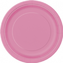 "Large Hot Pink Plates - 9"" Paper Plates (16pcs)"